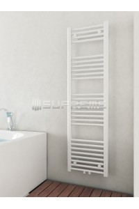 400mm Wide 1400mm High Middle Connection White Towel Radiator