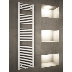 400mm Wide 1600mm High Middle Connection White Towel Radiator