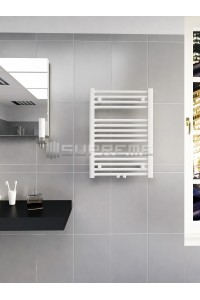 500mm Wide 700mm High Middle Connection White Towel Radiator