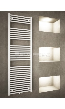 500mm Wide 1600mm High Middle Connection White Towel Radiator