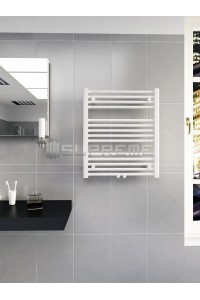 600mm Wide 700mm High Middle Connection White Towel Radiator