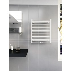 600mm Wide 700mm High Multi Connection White Towel Radiator