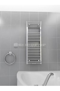 400mm Wide 1100mm High Multi Connection Chrome Towel Radiator