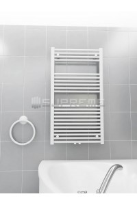600mm Wide 1100mm High Middle Connection White Towel Radiator