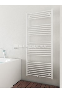 600mm Wide 1400mm High Middle Connection White Towel Radiator