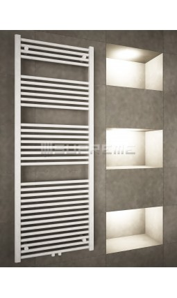 600mm Wide 1600mm High Middle Connection White Towel Radiator