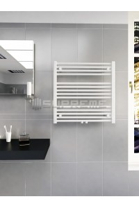 700mm Wide 700mm High Middle Connection White Towel Radiator