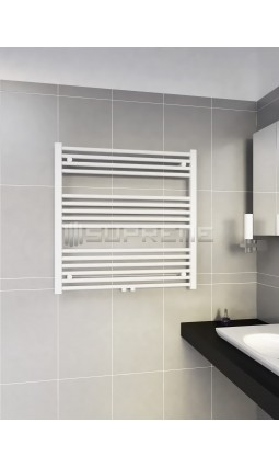 800mm Wide 800mm High Multi Connection White Towel Radiator