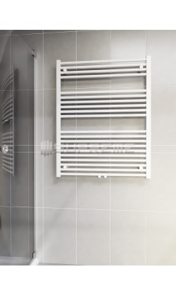 800mm Wide 1000mm High Middle Connection White Towel Radiator