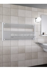 1200mm Wide 600mm High Middle Connection White Towel Radiator