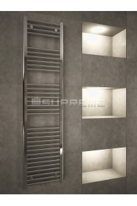 400mm Wide 1600mm High Multi Connection Chrome Towel Radiator