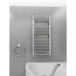500mm Wide 1100mm High Middle Connection Chrome Towel Radiator