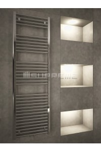 500mm Wide 1600mm High Middle Connection Chrome Towel Radiator