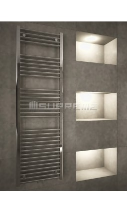 500mm Wide 1600mm High Multi connection Chrome Towel Radiator