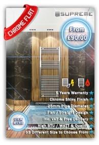 Chrome Flat Towel Radiators