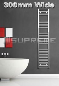 300mm Wide Towel Radiators & Heated Bathroom Rails