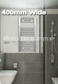 400mm Wide Towel Radiators & Heated Bathroom Rails