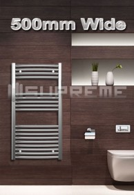 500mm Wide Towel Radiators & Heated Bathroom Rails