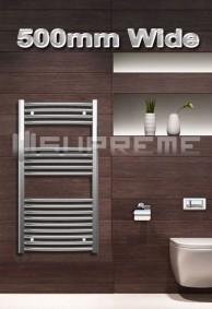 500mm Wide Towel Radiators & Heated Bathroom Rails