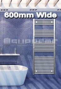 600mm Wide Towel Radiators & Heated Bathroom Rails