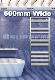 600mm Wide Towel Radiators & Heated Bathroom Rails