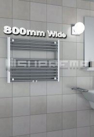 800mm Wide Towel Radiators & Heated Bathroom Rails