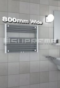 800mm Wide Towel Radiators & Heated Bathroom Rails