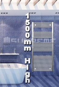 1500mm High Bathroom Towel Radiators & Heated Rails