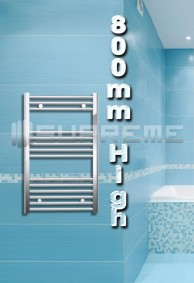 800mm High Bathroom Towel Radiators & Heated Rails