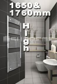 1650 & 1760mm High Bathroom Towel Radiators & Heated Rails