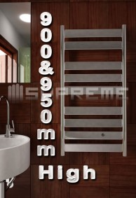 900 & 950mm High Bathroom Towel Radiators & Heated Rails